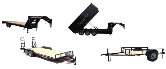 various small & medium duty trailers